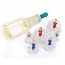 Китайский Медицинский 6 Кубки/set вакуумные банки Тела Relax Терапия-Баночный Массажер Для Тела