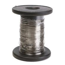 30 м 304 проволока из нержавеющей стали рулон один яркий Жесткий провод кабель, 0,6 мм
