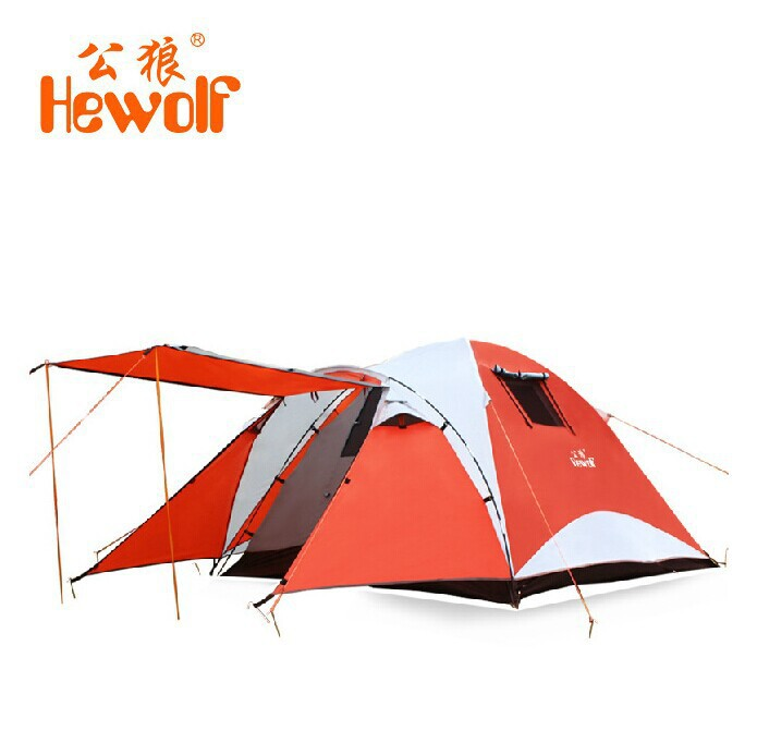 Male wolf 4-5 person family tent people Bedroom windproof leisure travel tentsMale wolf 4-5 person family tent people Bedroom windproof leisure travel tents