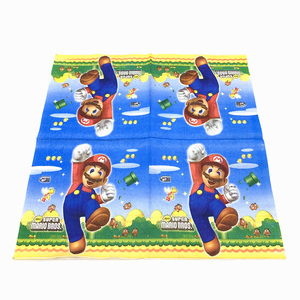 Image 5 - 73 개/몫 생일 파티 용품 일회용 식기 슈퍼 마리오 브라더스 파티 용품 장식 종이 냅킨 플레이트 컵