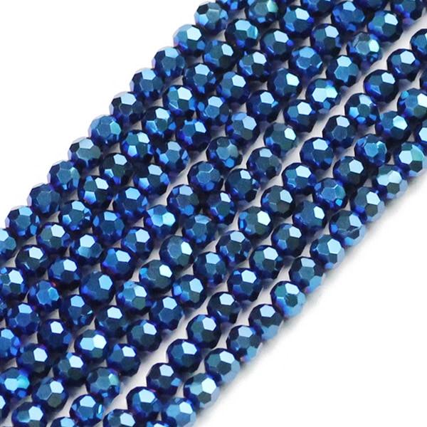 JHNBY, футбольные граненые Австрийские кристаллы, 200 шт, 3 мм, цветные круглые бусины, ювелирные изделия, браслет, аксессуары, сделай сам - Цвет: QZ3101 Sapphire blue