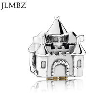 Warm Home Castle DIY Jewelry Charms Beads Fit Pandoraa Bracelet & Necklaces Pendant Hot Sale Beads Jewelry Making Women Gifts(China)