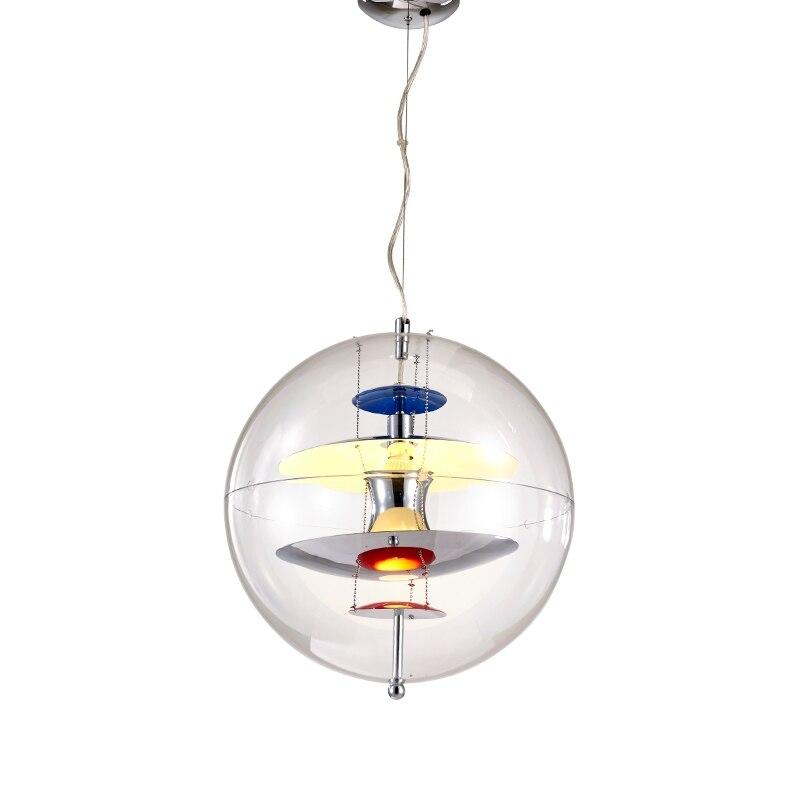 Offre spéciale Panton roman Design créatif Verpan Globe lampe salle à manger Club Bar pendentif lumière salon Restaurant suspension lampe