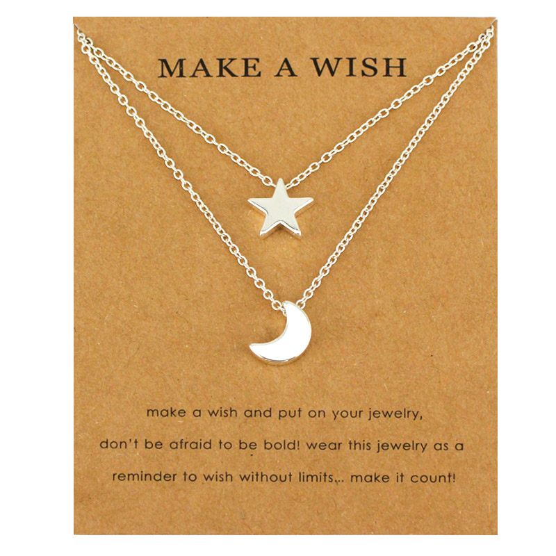 Infinity Love Heart Horseshoe Key Compass Bird Branch Elephant Angel Wing Lucky Clover Wave Moon and Stars Necklaces for Women(China)