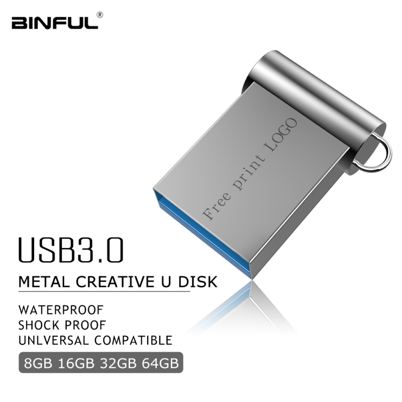 Super Mini Metal Usb Flash Drive 3.0 Pen Drive 16GB 32GB 64GB 128GB U Disk Portable Pendrive 4GB 8GB Flash Memory Free Shipping