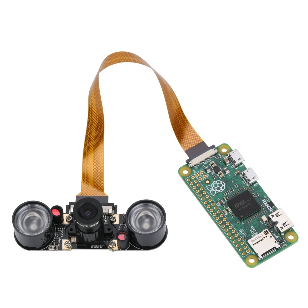 Image 4 - Raspberry Pi Zero Camera Module Focal Adjustable Night Vision Webcam with IR Sensor LED Light for RPI Zero Free shipping-in Demo Board from Computer & Office