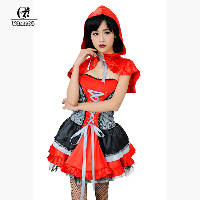 rolecos brand high quality halloween costumes for women little red riding hood cosplay costumes women halloween - High Quality Womens Halloween Costumes