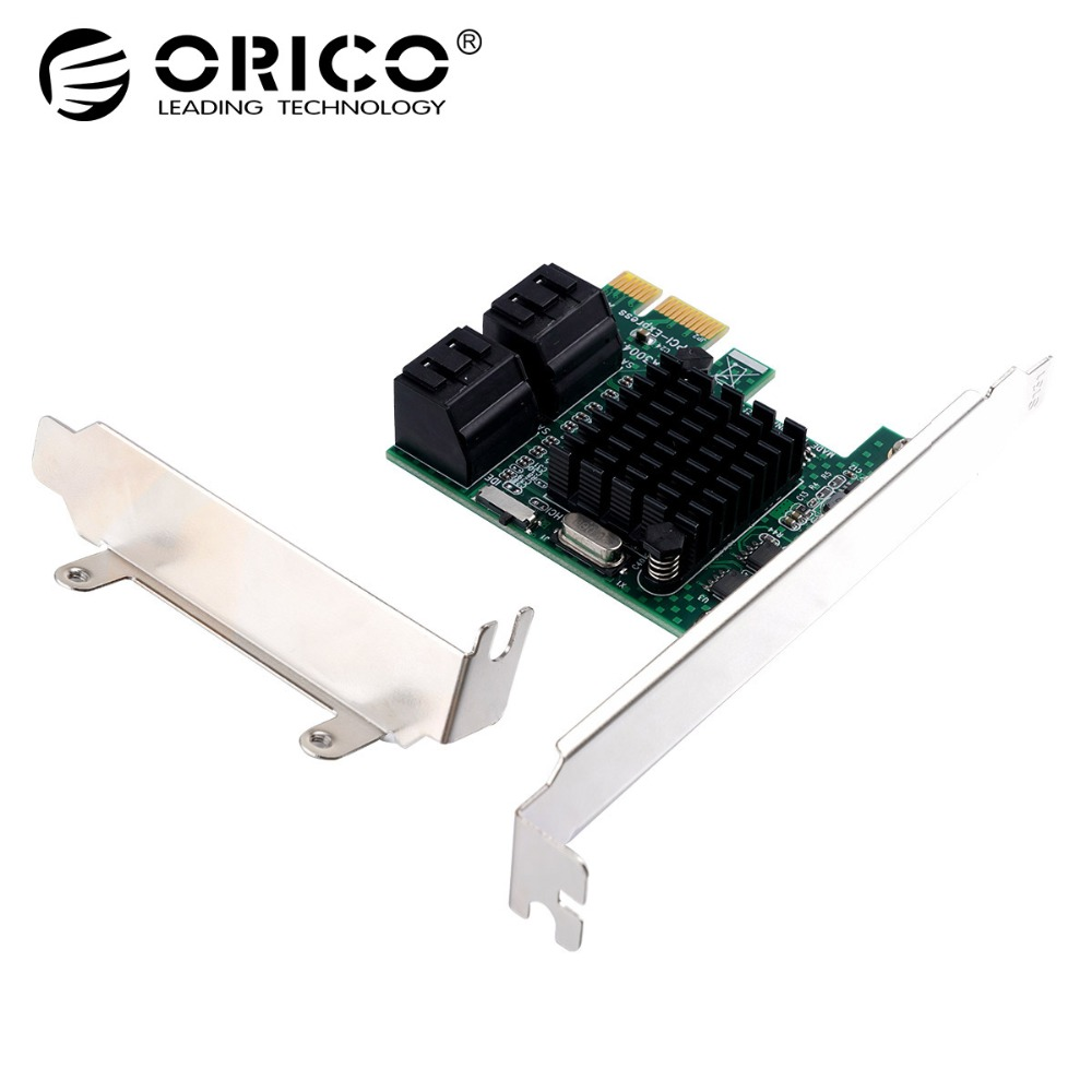 ORICO 4 Port SATA3.0 PCI-E Express Expansion Card Adapter 6Gbps Speed PCI Express Support SATA Hot-swapping For Windows XP/Vista