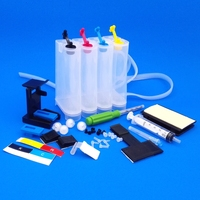 4 Color Ciss Ink tank Kit for 652 Deskjet 1115 2135 2136 2138 3635 3636 3835 universal inkjet DIY CISS with drill Suction tool