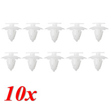 10 Pcs/Set White Bumper Cover Fixing Fastener Trim Clips Front Rear for Ford Ka 1996 – 2008