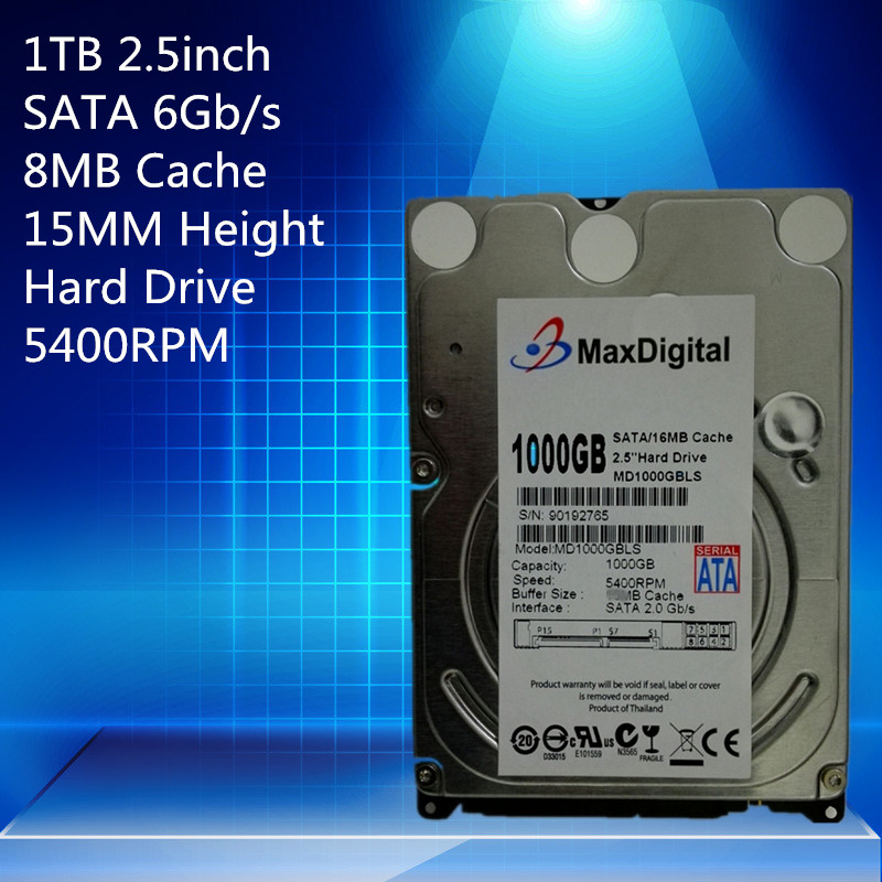 1TB 2.5 15mm Height SATA Hard Drive 5400RPM for PC Tower/Server/Mini-ITX/Desktop/Machine Warranty for 1-year canon ixus 180
