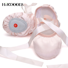 2019 Baby Girl Ballet Shoes Ribbons Silk Satin Dance for Child Soft Sole Professional Children Dancing