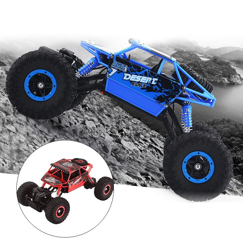 RC Car 2.4Ghz 4WD Rock Crawlers 4x4 Driving Car Remote Control Car Rechargeable Rock Bigfoot Car Crawler Model Off-Road Vehicle