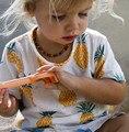 Bebê Crianças shirt curto t Das Meninas Dos Meninos Camisetas de Verão Meninos fruit impresso T-Shirt da Roupa do bebê Da Criança