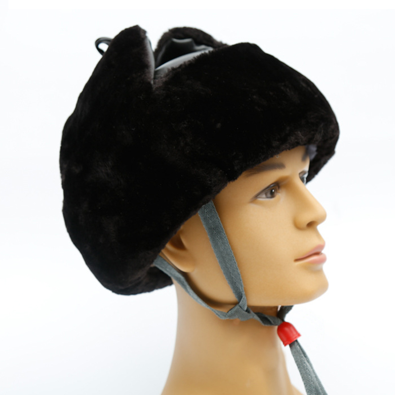Safety Helmet Winter Warm Plush Cap Ear Face Protector ABS Shell Protective Helmets Cold resistant Anti impact Hat