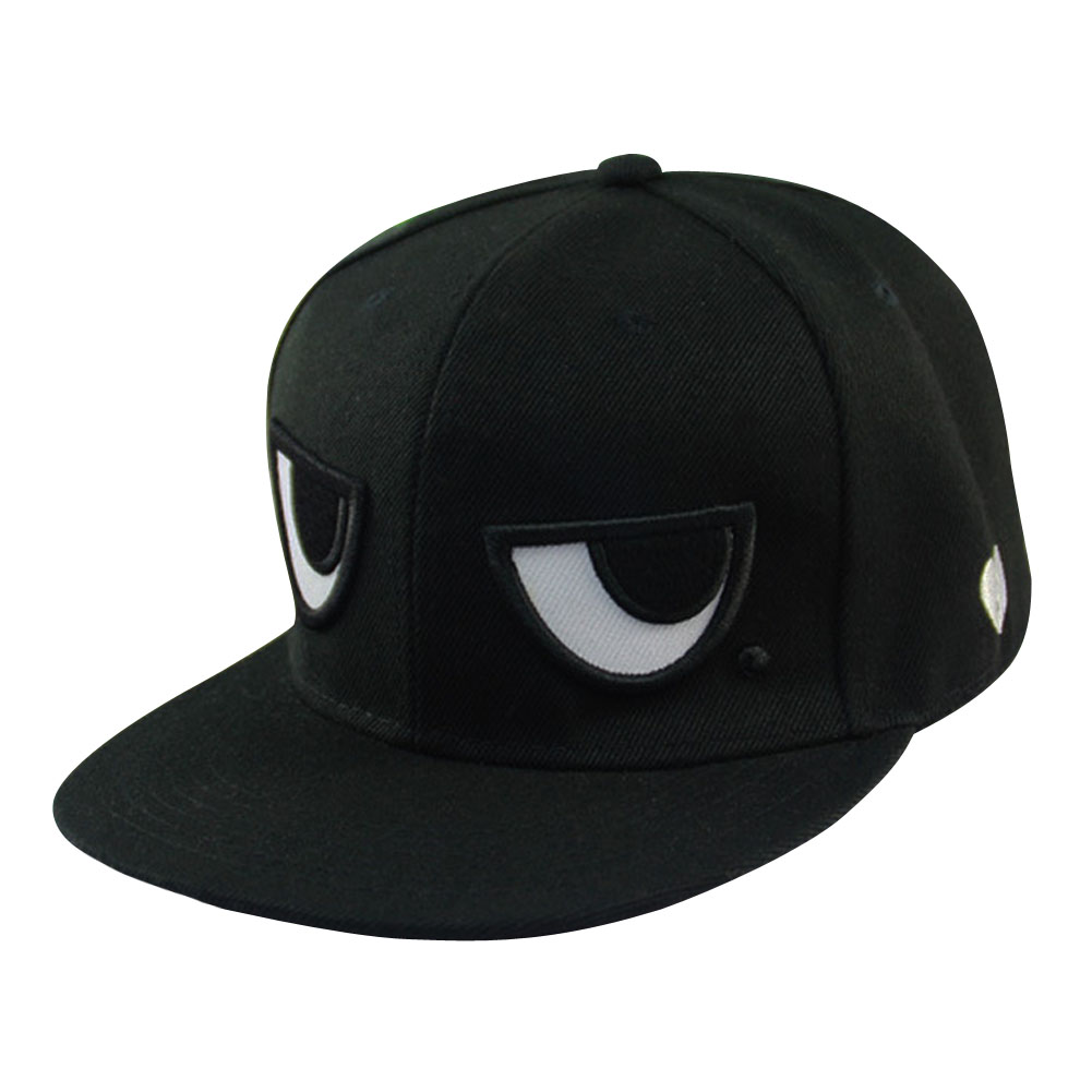 Fashion Unique Unisex Adjustable Baseball Cap Snapback Hip-hop Hat Funny  Eyes Design Cotton Flat 4c24b6706392