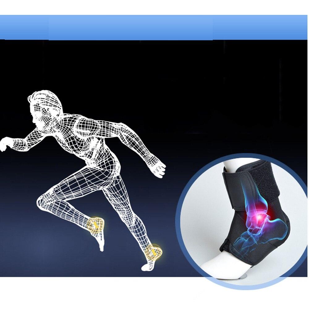 Alta Qualidade Suporte Ankle Brace Respirável Neoprene Sleeve Envoltório Ajustável Confortável flexível durável aliviar a dor preto