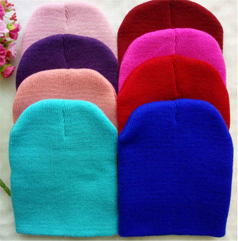 2018 Brand New Baby Hats Beanies winter warm Girl Boy Toddler Infant Kids Children Cute Hat Cap Unisex Solid Knitted Beanie Gift