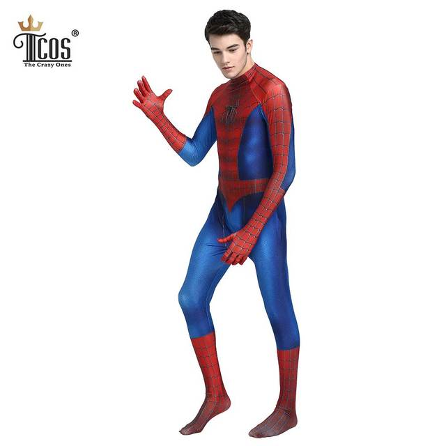 Spiderman Cosplay Costume Set Men Spider-Man Mask Spandex Lycra Zentai Suit Halloween Carnival Birthday  sc 1 st  AliExpress.com & Spiderman Cosplay Costume Set Men Spider Man Mask Spandex Lycra ...