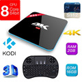 H96 Pro Amlogic S912 Octa Core Android 6.0 TV Box 2G/16G 2.4G/5 GHz WIFI BT4.0 Gigabit LAN KODI 16.0 4 K Media Player W/teclado