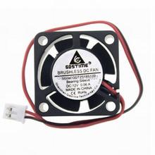 100PCS LOT Gdstime 2Pin 2510S 25 x 10MM 25MM 12V Brushless DC Cooler Cooling Fan
