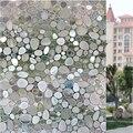 3D Static Cling Waterproof Window Film Stained Pebble Glass Sticker Bathroom Slide Door 45x100cm Gift