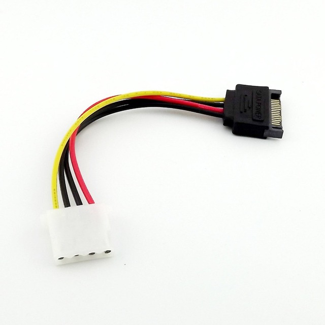 Serial ATA SATA Male To IDE Female 4 Pin Reverse Power Adapter Cable 500pieces