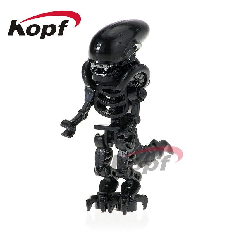 Single Sale Super Heroes Skeleton Skull Alien One-Eyed Halloween Cyclops Omino Snake Undead Building Blocks Children Toys PG1164