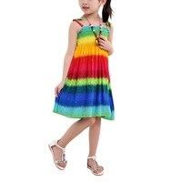 Girls Dress Summer Bohemian Style Floral Shoulderless Beading Necklace Sun Dress Girls Beach Dress Clothes