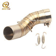 Motorcycle Exhaust Connect Link Pipe Middle Tube Adapter Escape moto Exhaust Muffler Spring for Kawasaki Z900 Z 900  2017 2018