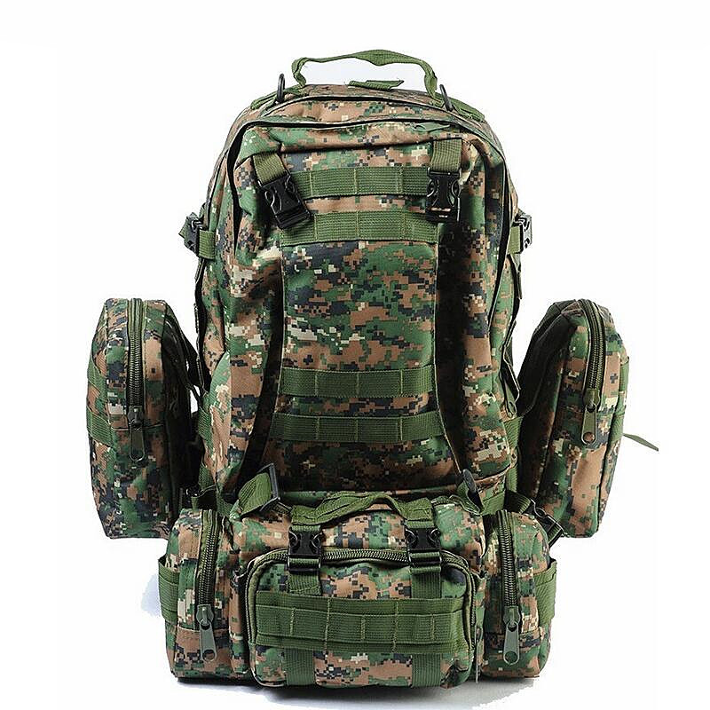 Men's Backpack 50L Molle Military Tactical Backpack Rucksack Sports Bag Waterproof Laptop Bagpack Mochila bucbon camo tactical backpack military army mochila 50l waterproof hiking hunting backpack tourist rucksack sports bag hab037