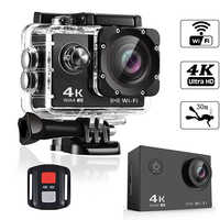 BAPASCO 4K Ultra HD WIFI gopro hero 4 Style 1080 P/30fps 2.0 LCD 170 lentille plongée étanche 30M DV casque caméra de sport Cam