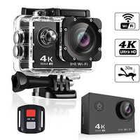 BAPASCO 4K Ultra HD WIFI gopro hero 4 Style 1080P/30fps 2.0 LCD 170 Lens Diving Waterproof 30M DV Helmet Cam Sports Camera