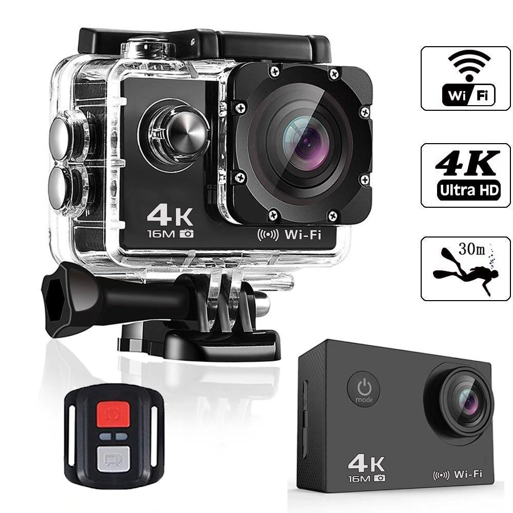 BAPASCO 4K WIFI Ultra HD gopro hero 4 Estilo 1080 P/30fps 2.0 LCD 170 Lente de Mergulho À Prova D' Água 30M DV Câmera do Capacete Câmera de Esportes