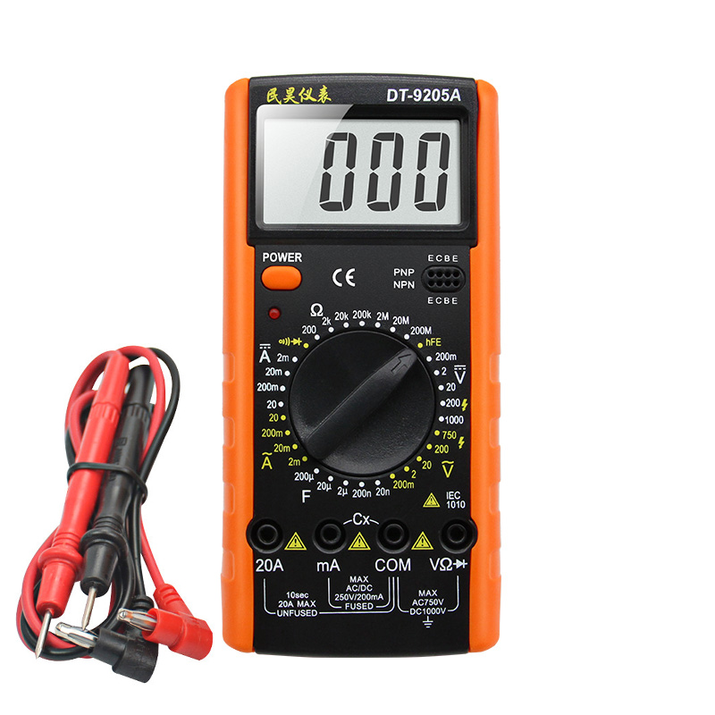 Digital Multimeter DT9205A AC DC LCD Display Professional Electric Handheld Multitester Meter Multimetro DT9205A Ammeter Tester vacuum cleaner accessories motor suction machine motor vacuum feeder motor copper wire vacuum cleaner parts