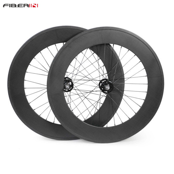 88C 700C carbon wheelset 88mm clincher tubular track front and rear bicycle fixed gear street bike