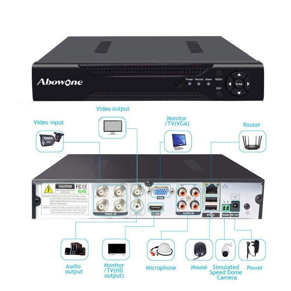 AHD 1080N 4CH 5IN1 Para CCTV Kit DVR CCTV Mini DVR VGA HDMI Sistema De Segurança Mini NVR Para 1080 P câmera IP Onvif PTZ DVR H.264