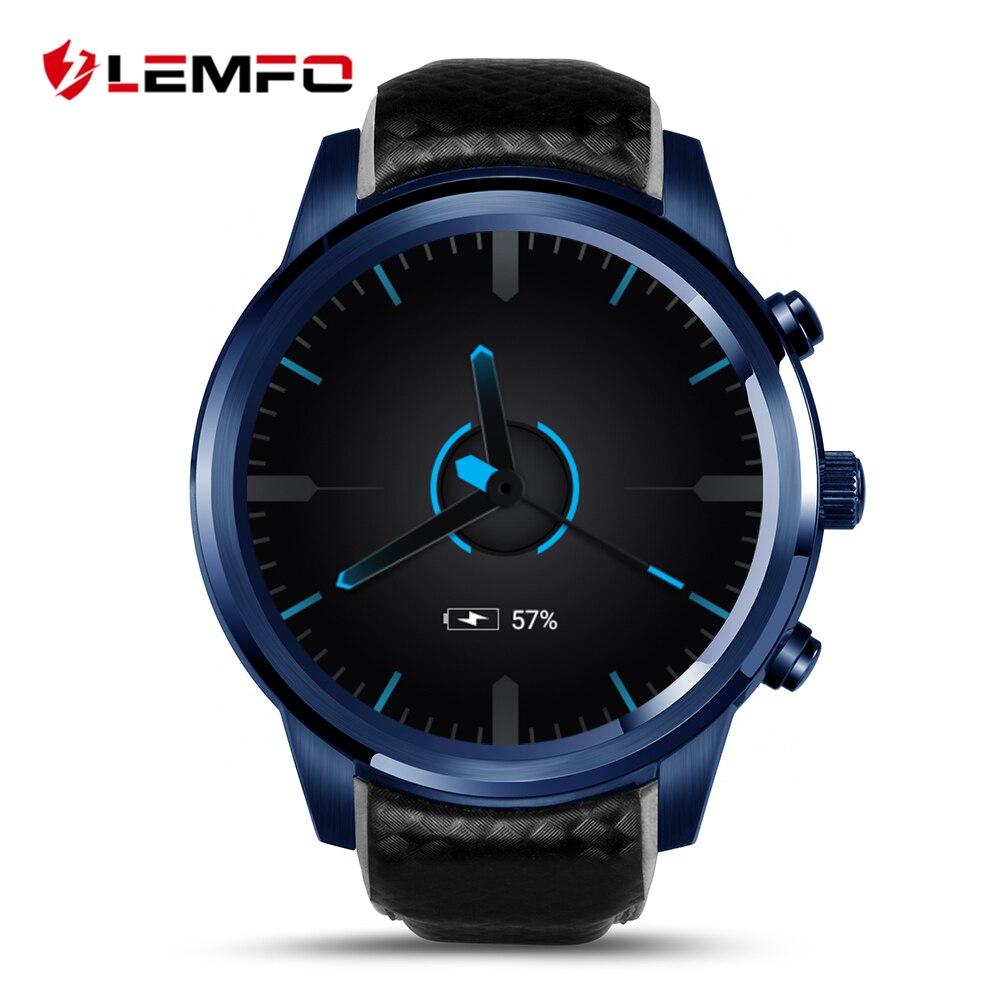 Galleria fotografica Lemfo Smart Montres SIM Carte GPS WIFI Montre Téléphone <font><b>Smartwatch</b></font> Android Montre Smart Watch LEM5 Pro 2 GB + 16 GB MTK6580 Réponse appel