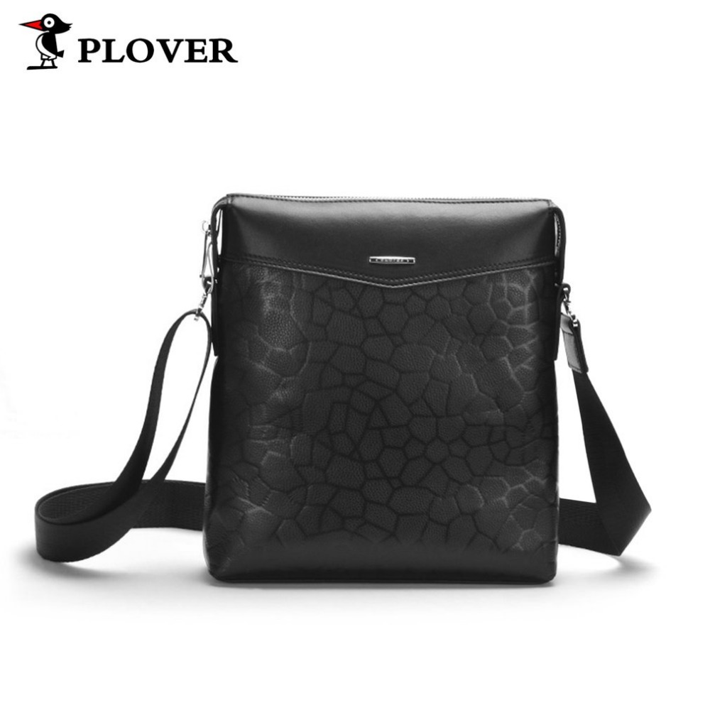 Plover Genuine Leather Men Shoulder Messenger Bag Male Cross-body Bag Sling Bags Leisure Business Handbags For Male Teenager Hot deelfel new brand shoulder bags for men messenger bags male cross body bag casual men commercial briefcase bag designer handbags