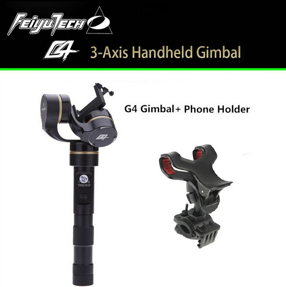 Feiyu Tech Gold G4 FY-G4 3-AXIS Brushless Handheld Gimbal Stabilizer for  gopro 3 / 3 + / 4 G4 +Free Phone Holder Free Shipping free shipping feiyu tech g4 gs gimbal 3 axis brushless gimbal for sony hdr az1vr fdr x1000v as series sport auction camera