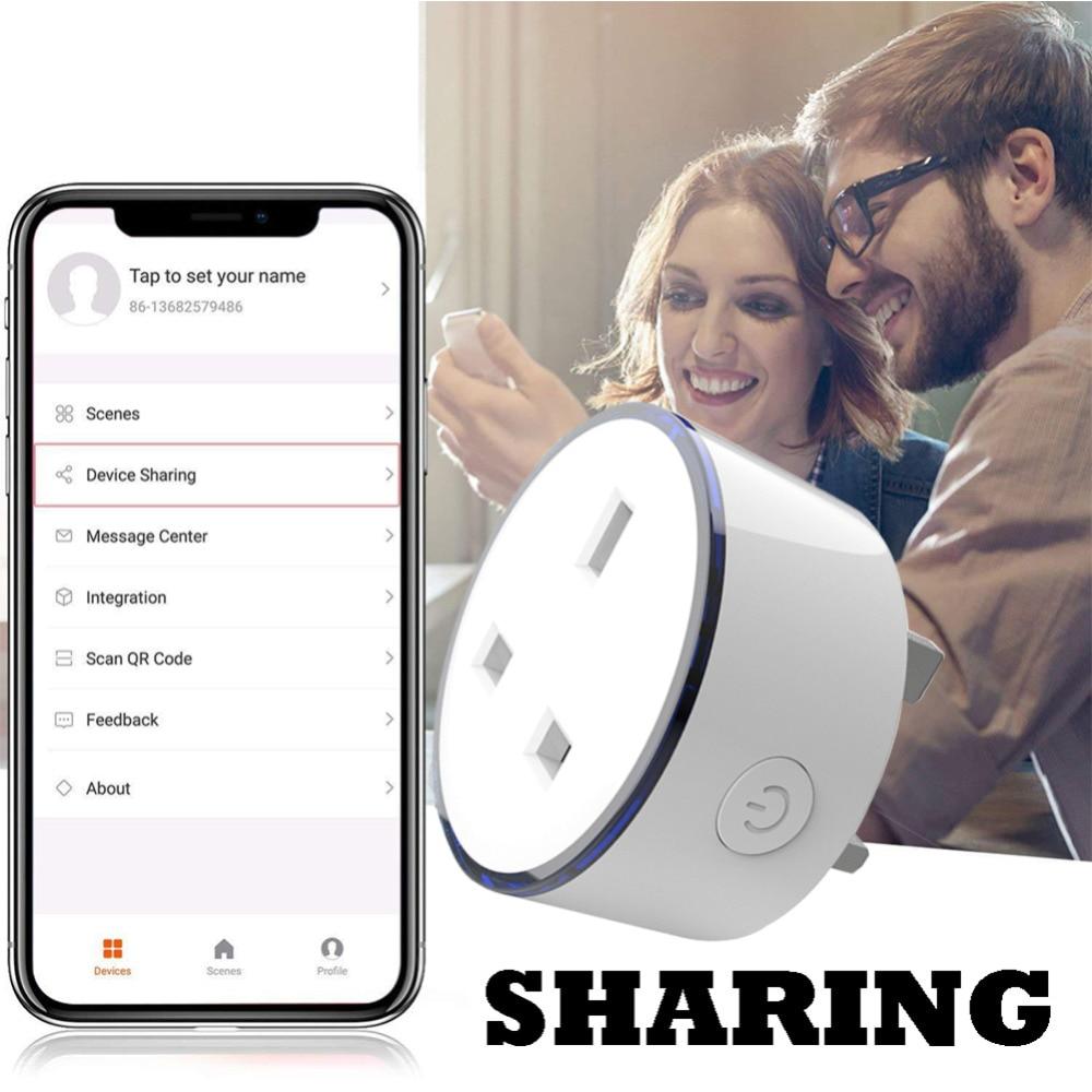 Image 3 - Зарядное устройство для смартфона UK Тип беспроводной Wi Fi пульт дистанционного управления розетка домашний голосовой контроль работает с Google Home Mini Alexa iftt-in ЗУ для мобильных телефонов from Мобильные телефоны и телекоммуникации