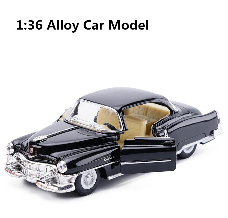 High Simulation Super Car Model, 1: 36 Alloy Pull Back Cadillac 62 Classic Model Car, 2 Open The Door Toy Vehicle, Free Shipping