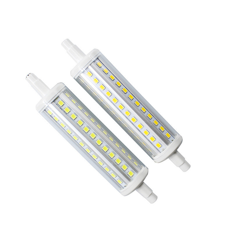 Lighting Bulbs R7S LED Bulb 118mm 72 leds with PC cover 360 degrees lighting AC220V led corn lamp for floodlight replacement in LED Bulbs Tubes from Lights Lighting