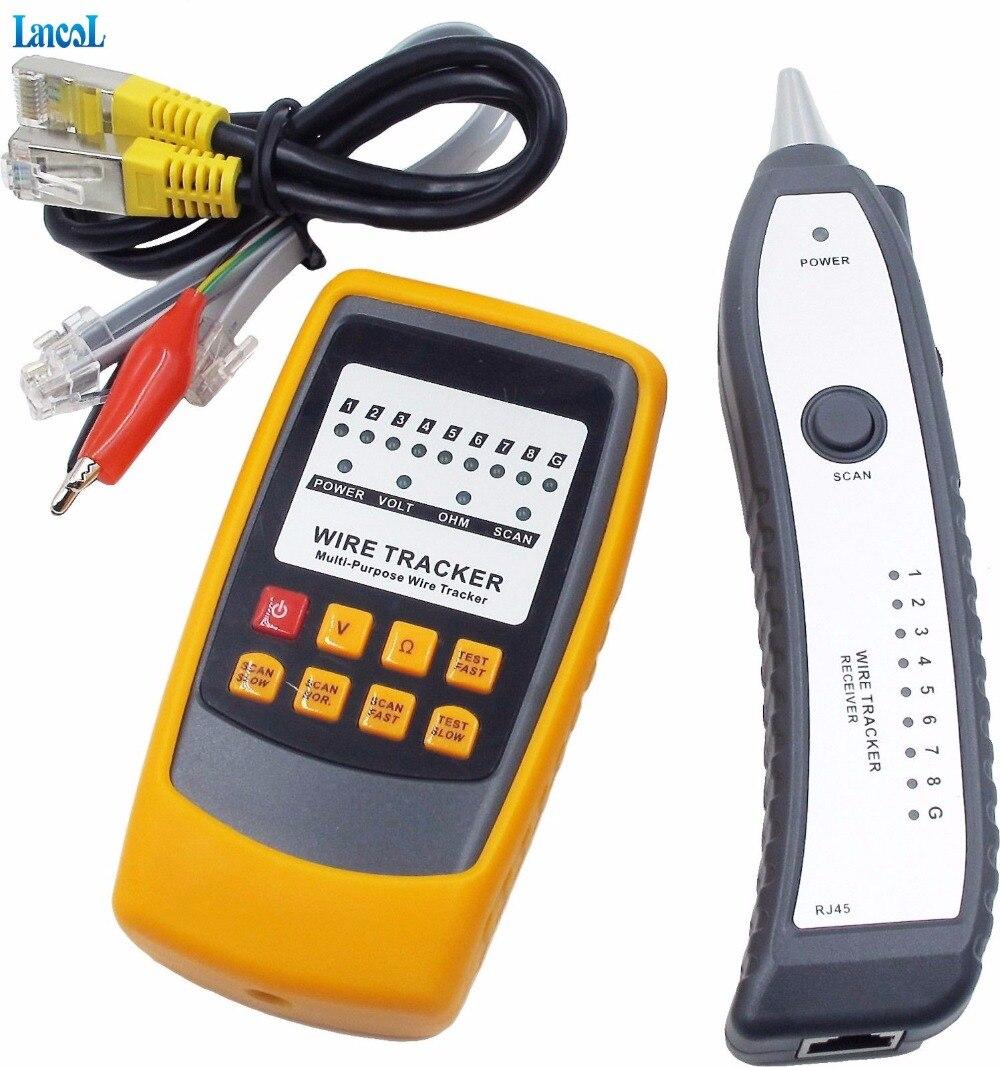 Traqueur universel de fil de câble automobile de voiture testeur de détecteur de Circuit court et ouvert traceur de détecteur de réparation de véhicule de voiture