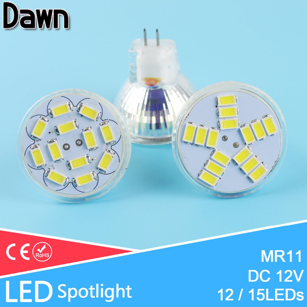 MR11 Led Spotlight DC 12V 3W 5W 5730 SMD LED Lamp Bulb Energy Saving Led Spot Light Bulb LAMPADA Cool White White Warm White GU4