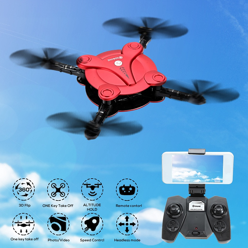 Eachine E55 Mini WiFi FPV Foldable for Pocket Selfie Drone With High Hold Mode RC Quadcopter VS JJRC H37 Mini H47 Selfie Drone jjrc h49 sol ultrathin wifi fpv drone beauty mode 2mp camera auto foldable arm altitude hold rc quadcopter vs e50 e56 e57