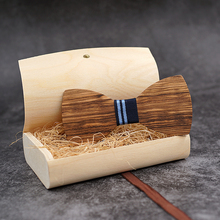 Mahoosive Handerchief Wood Wedding Bowtie Gravata Ties For Men Accessories Mens Wooden Bow Tie Cufflinks Set Noeud Papillons