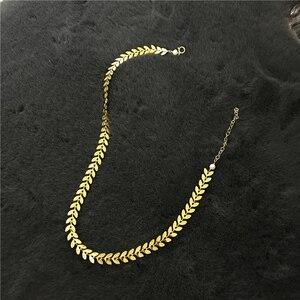 Image 5 - Złoty wypełniony Choker ręcznie robiony naszyjnik Vintage Charm prosty złoty łańcuszek Party prezent Collier Bijoux Femme biżuteria naszyjnik dla kobiet