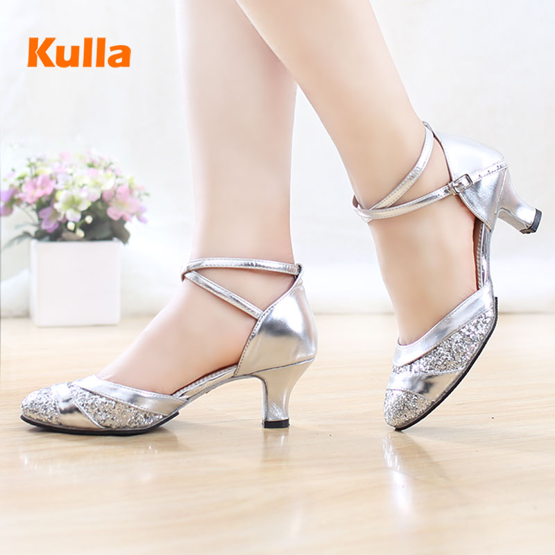 New Latin Dancing Shoes Female Adult Women Tango Salsa Modern Dance Shoes Spring Summer Soft Bottom High Heeled 5cm Dance Shoes new arrival brand modern dance shoes women dancing shoes heeled latin ballroom