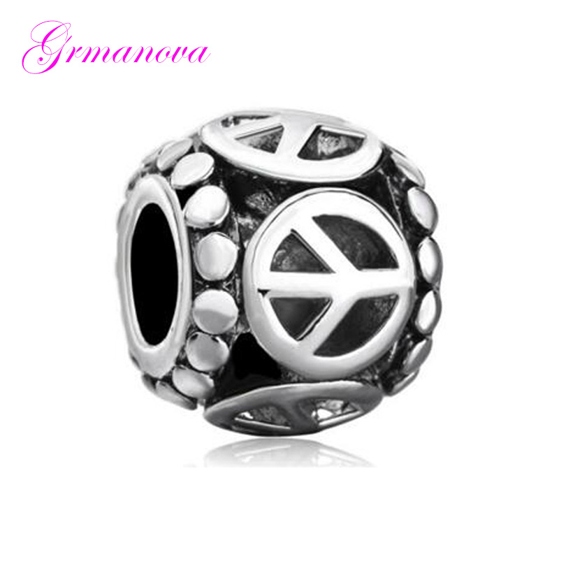 Golden Heart Shaped Hollow Love Valentine's Day Gift European Big Hole Charm Beads Fit Pandora Bracelet Women's DIY Jewelry image